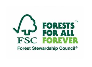 FSC森林認証を受けた 紙資材を使用